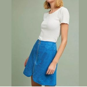 Anthropologie Retro Lace Mini Skirt XS The Korner